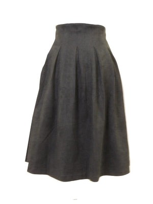 Kiki Riki Suede Pleat Skirt