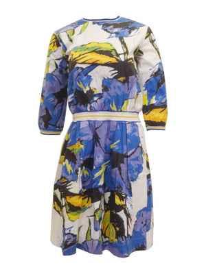 Luella Couture Multi Colored Floral Dress