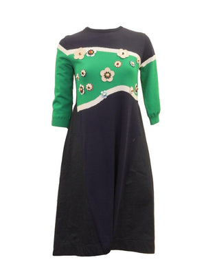Fraze Trapeze Flower Stud Dress