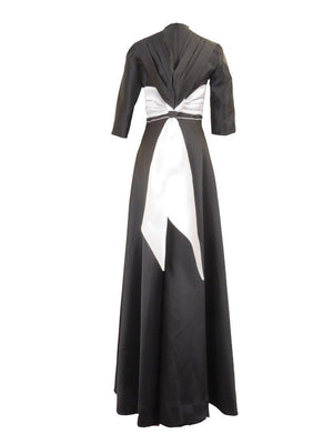 Impact Black and White Gown