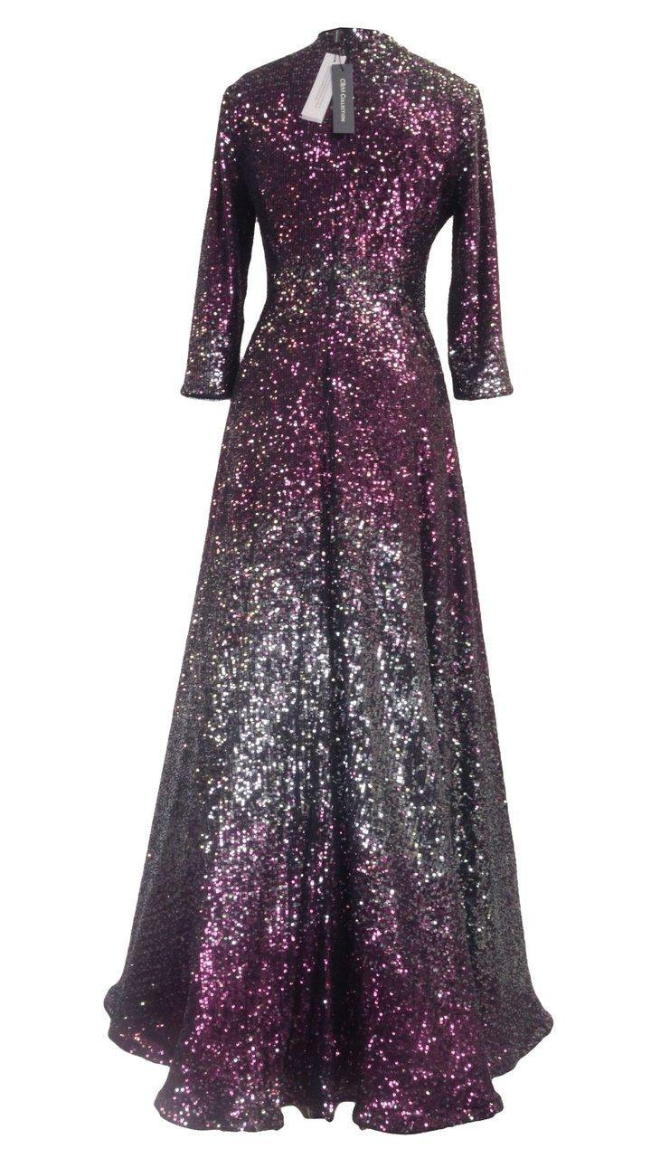C&M Beaded Sequin Gown