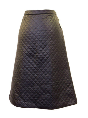 Myth Quilted Faux Leather A-line Skirt