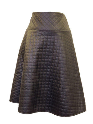Reverse Flair Quilted Skirt