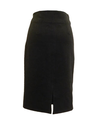 FRNCH Wooly Woven Pencil Skirt