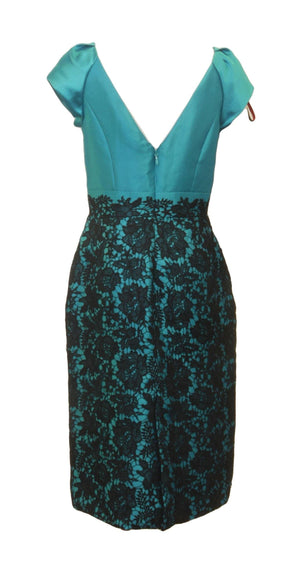 Love Teal and Lace Sheath Dress