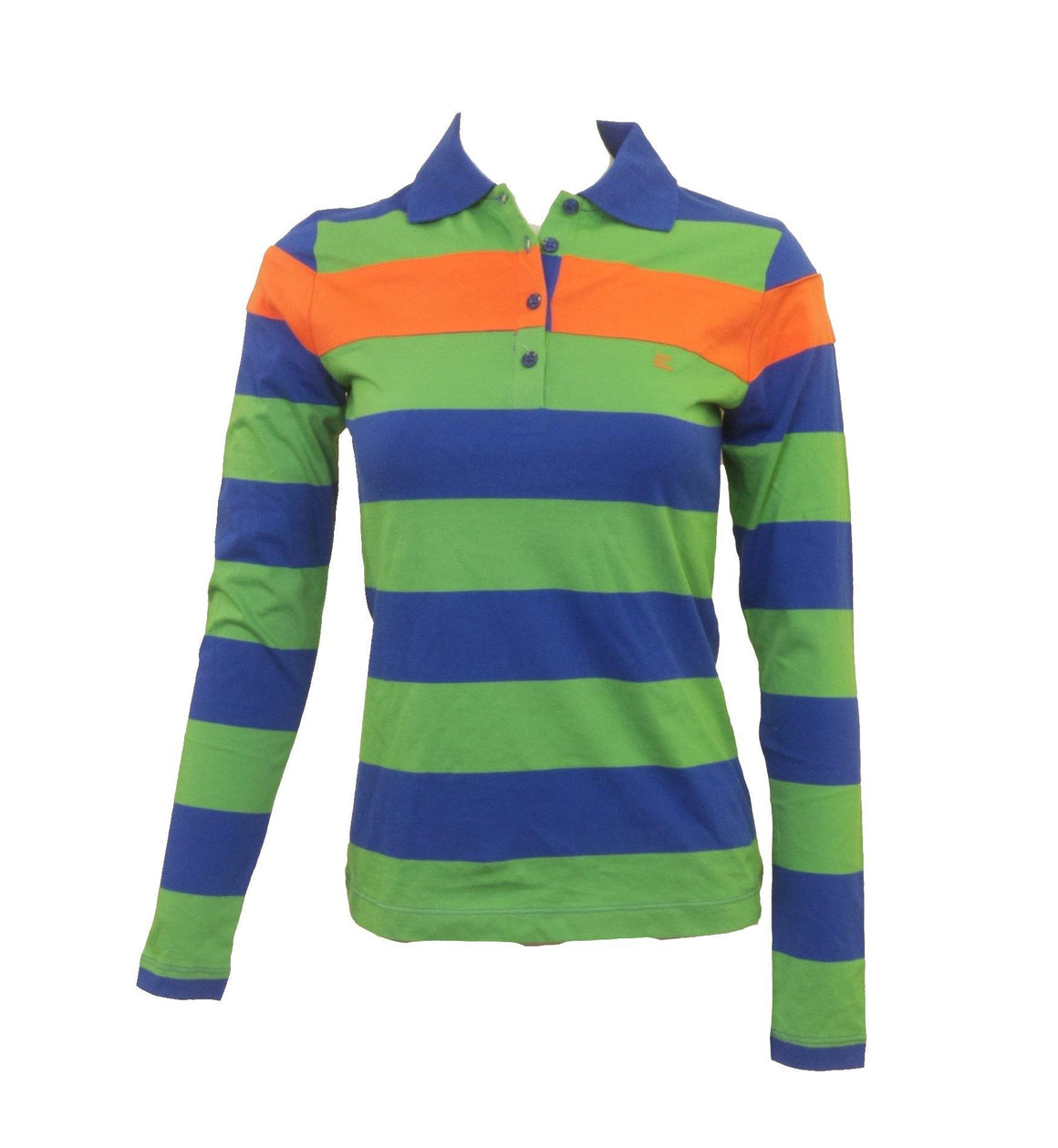 Sport Collared Striped Top