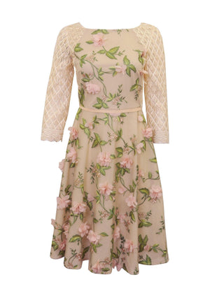 Womma Floral Applique Dress