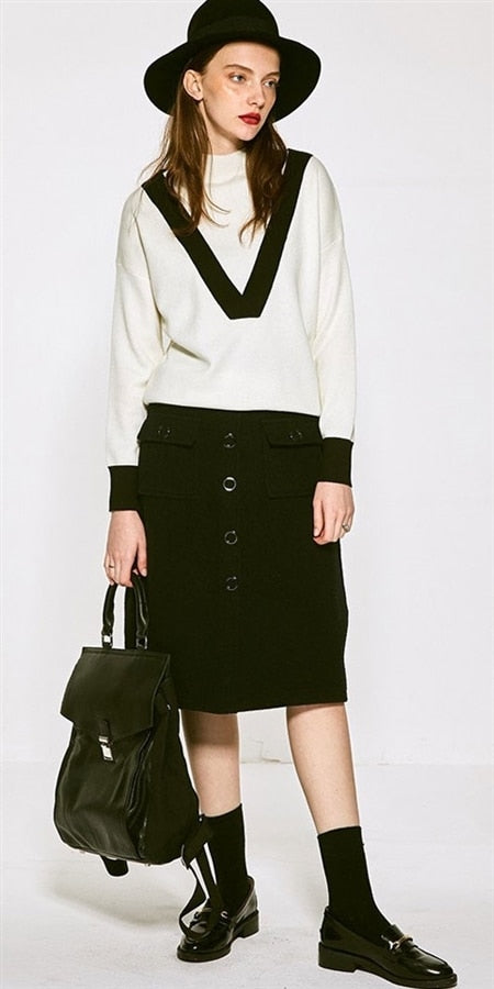 Few Moda Black Pocket Skirt