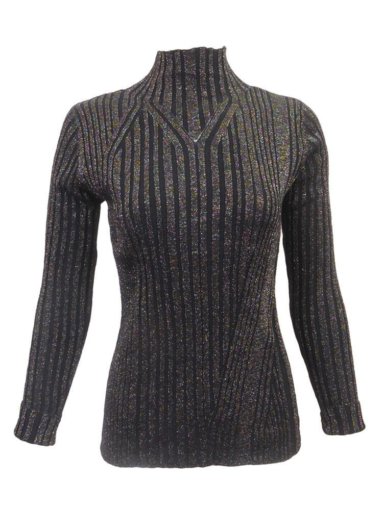 Sara Navon Navy Knit Top