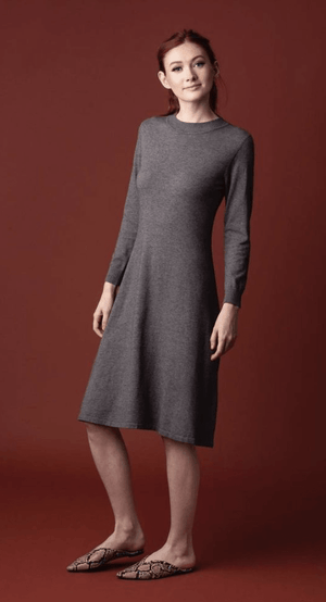 Acorn A-line Sweater Dress Front