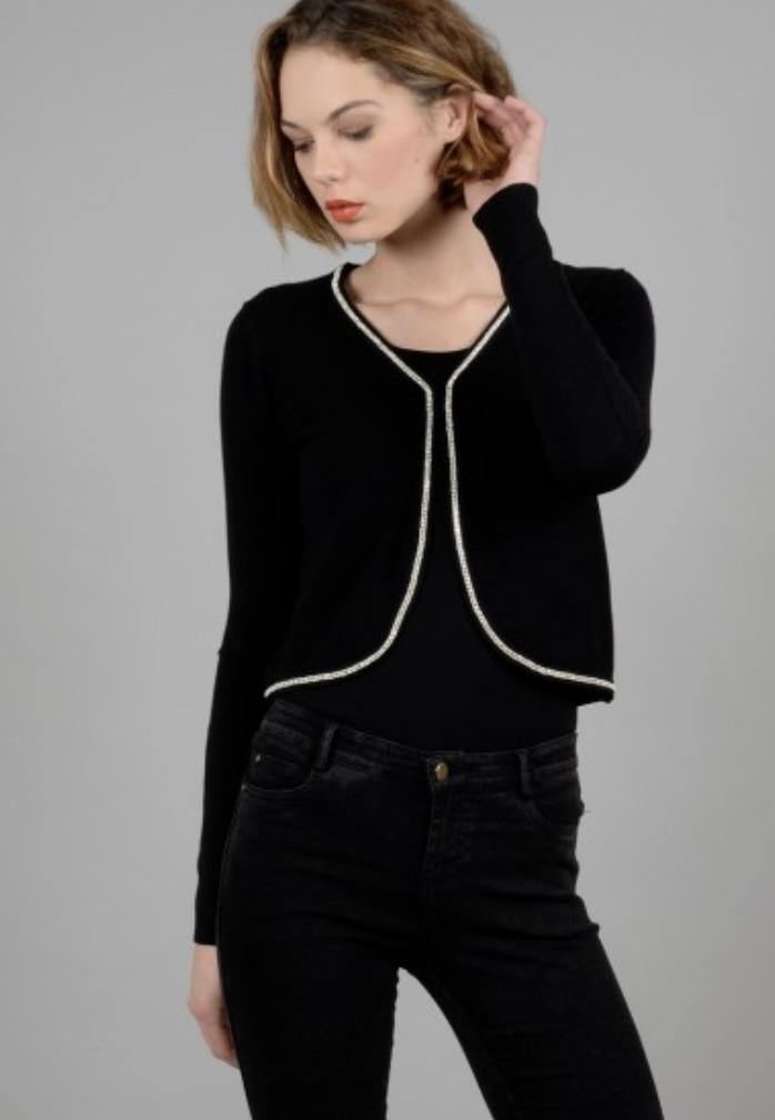 Molly Bracken Black Dressy Cardigan