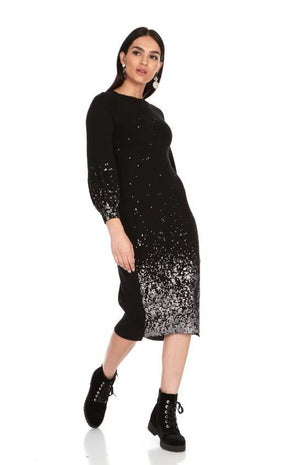 Belladonna Foil Print Sweater Dress