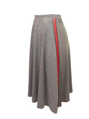 So Nikki Gray Skirt With Stripe