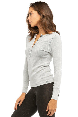 Hard Tail Long Sleeve Henley Shirt T-219