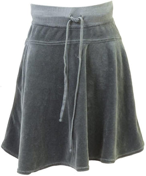 Hard Tail Junior Velour Drawstring Skirt V-826