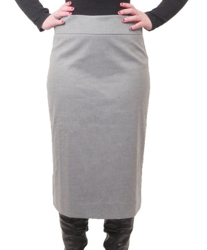 "Wear and Flair Straight Skirt 26"" with Zipper"