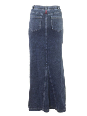 Hardtail Long Denim Skirt WJ-114