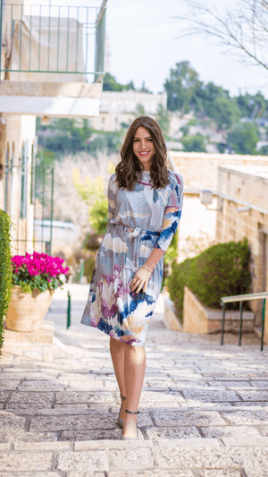 Daniella Faye Watercolor Square Dress