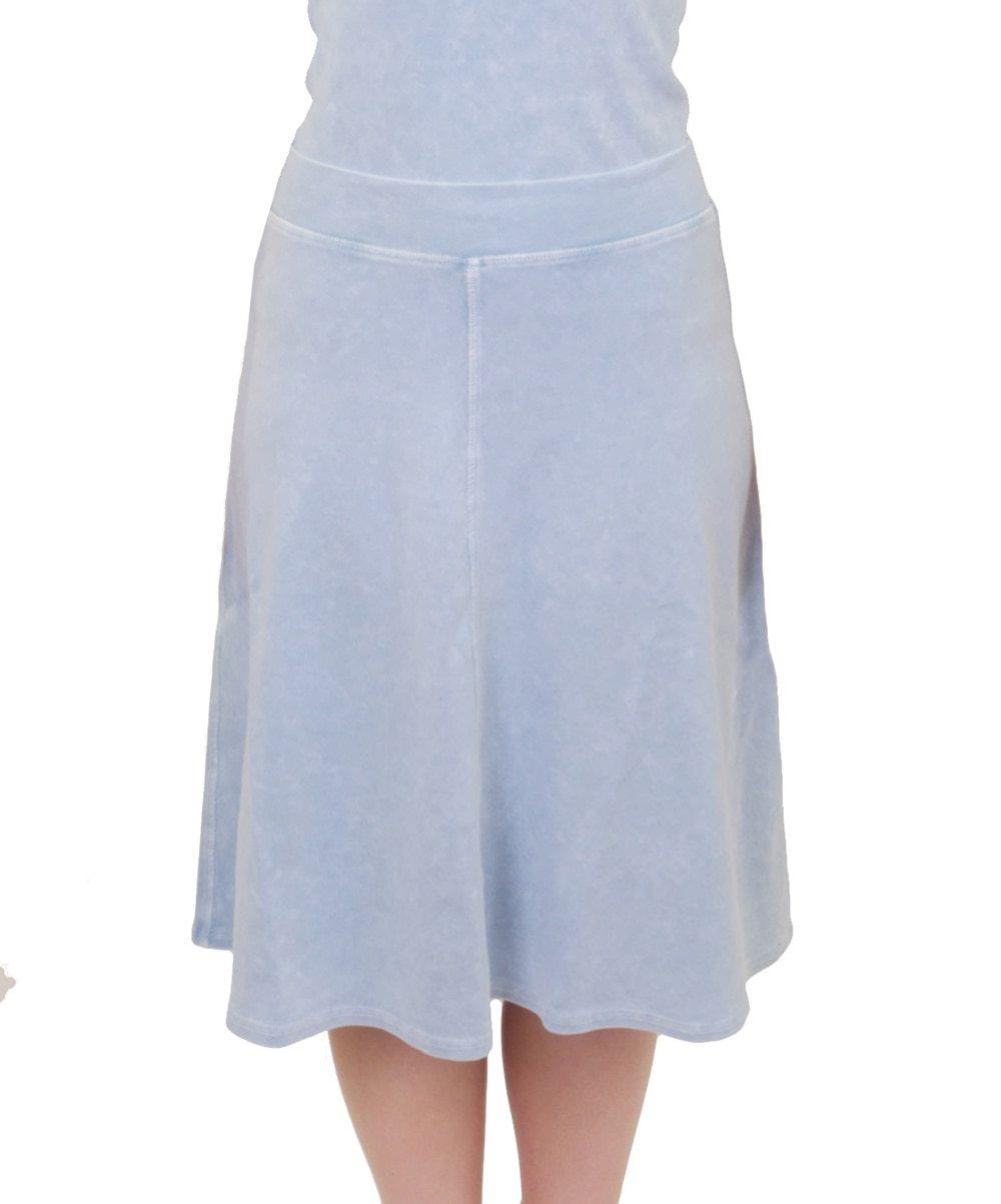Hardtail Flat Waist Knee Skirt B-145