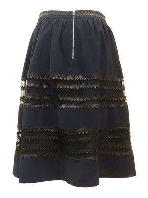Endless Rose Navy Mesh Skirt