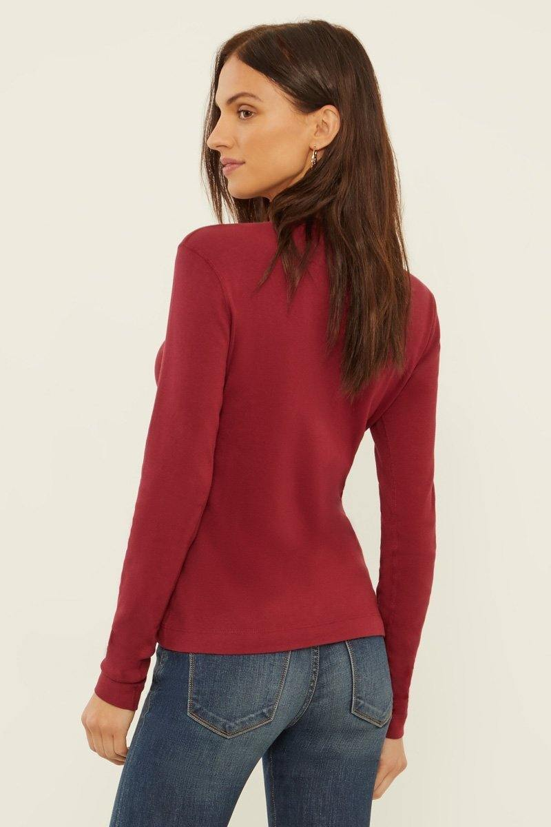 Three Dots Crewneck Long Sleeve Shirt