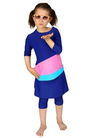 Hydrochic Colorblock Kids Swim Skirt