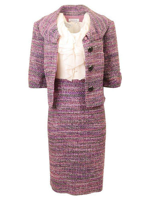 Kay Unger Two Piece Tweed Dress