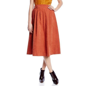 Dance and Marvel Rust Suede Skirt