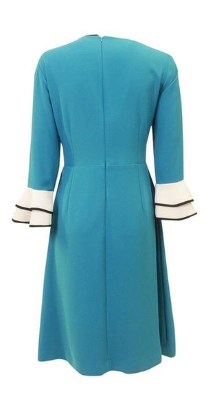 Touch Flutter Sleeve A-Line Dress