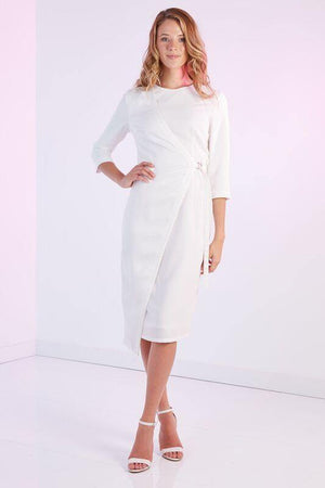 Modest People Cream Crepe dress