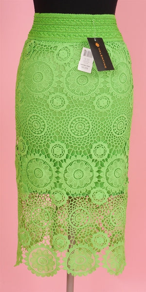 Valentine Lime Lace Skirt