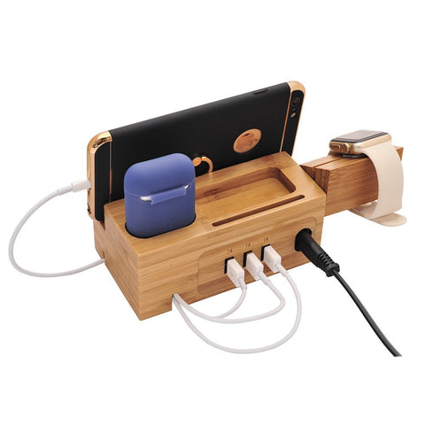 Natural Wood Charging Dock