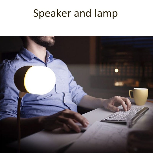 Qi Wireless Charger Lamp with Speaker