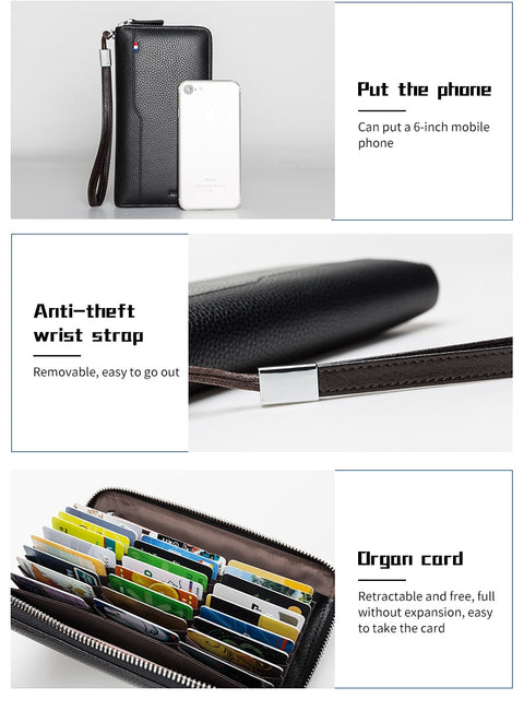 RFID Phone Leather Purse