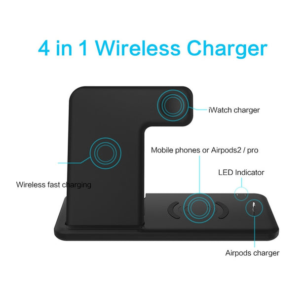 4-In-1 Fast Charging Wireless Station