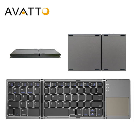 Wireless Bluetooth Keyboard with Touchpad for Windows, Android, IOS