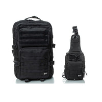 Spartan Tactical - Hippeas Backpack + ARC Sling Bag D-Pack