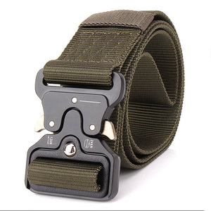 ENNIU MILITARY STYLE BELT WITH Quick-Release System military green color