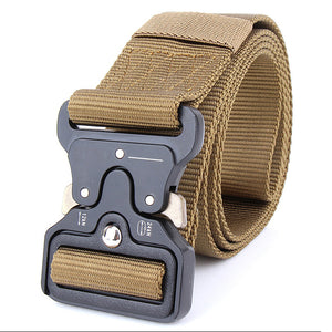 ENNIU MILITARY STYLE BELT WITH Quick-Release System coyote color