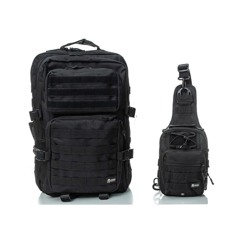 HIPPEAS TACTICAL BACKPACK ARC SLING BAG D-PACK BLACK