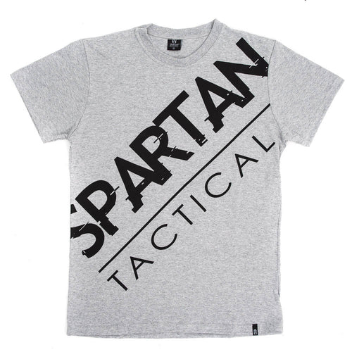 Spartan Tactical Diagonal T-Shirt Gray