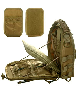 SPARTAN TACTICAL DXA SLING BAG KHAKI-COYOTE INTERIOR