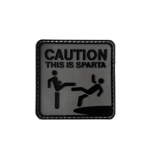 This is Sparta PVC morale Patch Black Grey