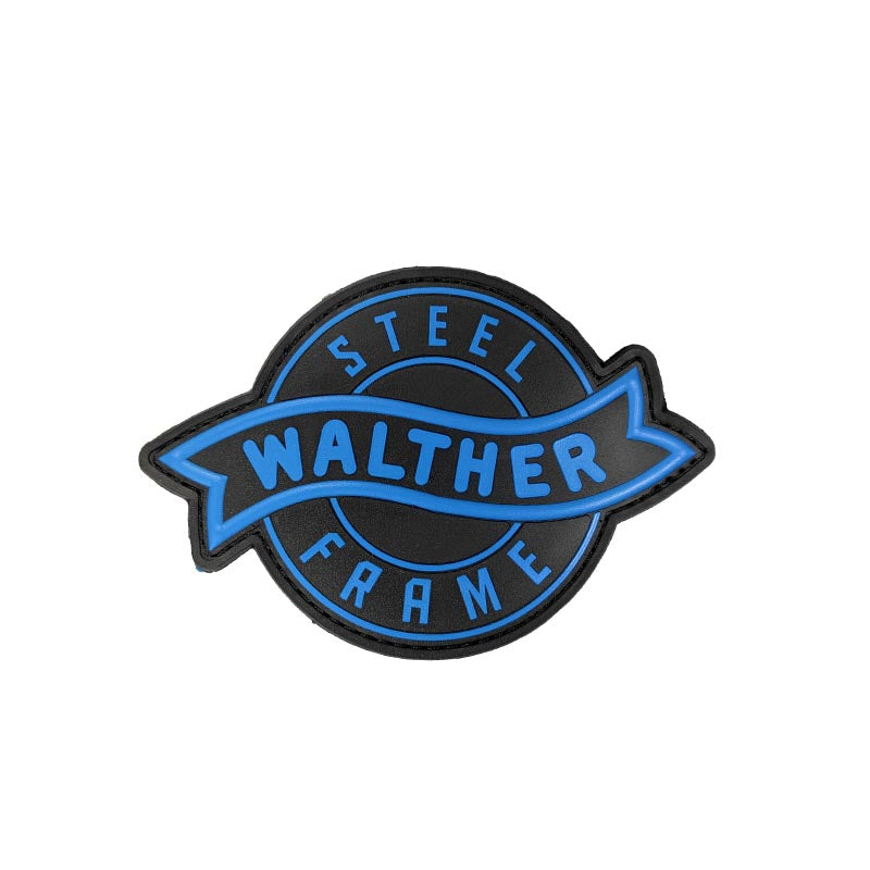 walther steel frame PVC patch blue black