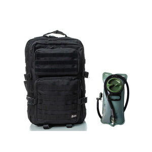 Hydration pack - Spartan Tactical Hippeas Backpack and Water Bladder 2,5 Liters  Black