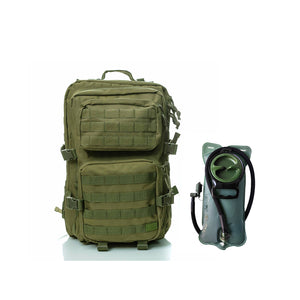 Hydration pack - Spartan Tactical Hippeas Backpack and Water Bladder 2,5 Liters  Miliary Green