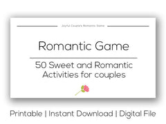 Joyful Couple's Romantic Game. Printable version