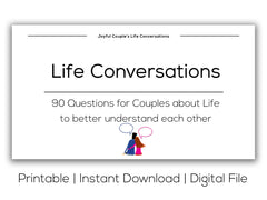 Joyful Couple's Life Conversations. Printable version