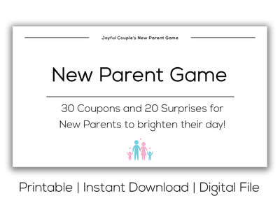 Joyful Couple's New Parent Game. Printable