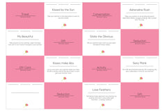 Joyful Couple's Romantic Game for Couples. Card examples